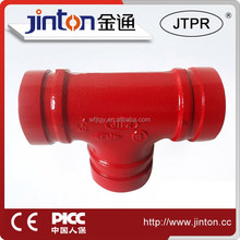 approved pipe fittings for fire fighting/protection sprinkler tee