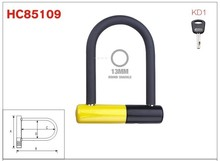 Safety aluminum bike U-lock, sharckle bicycle lock, folding bike parts