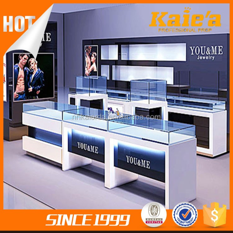 China suppliers luxury jewelry display showcase ,jewelry kiosk equipment