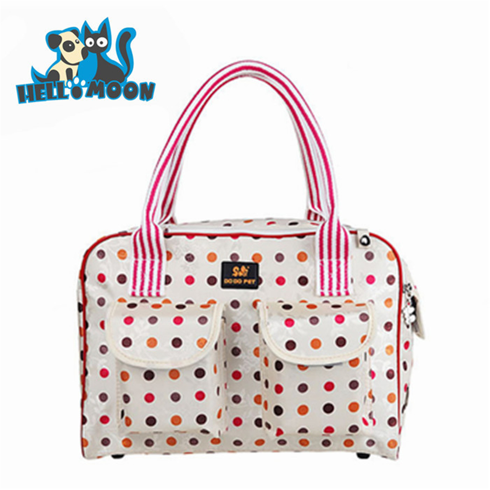 Dog Travel Bag Pink Spot Dog Carrier Dog Carrier bag