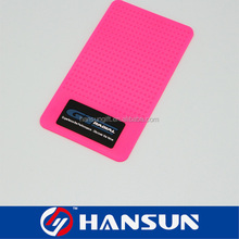 rectangle pink non slip custom pvc desk mat