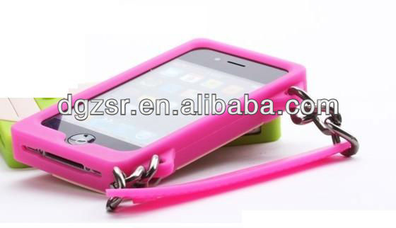 hand bag silicone phone case for iphone