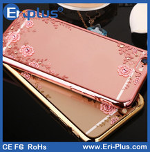 Crystal Transparent Electroplated TPU Cover For iPhone 6s Plus, For iPhone 6s Mobile Phone Case, For iPhone6s TPU Case