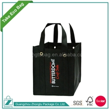 New Design 6 Bottle Divided Non Woven Wine Tote Packaging Bag With Logo