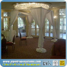 chiffon wedding wall curtains with pipe stand,wedding backdrop,wedding drapery