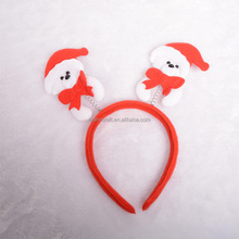 New Christmas headdress LED santa claus snowman red hoop Colourful Led Christmas atmosphere