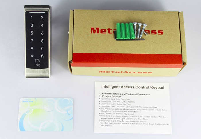 New Design metal shell WG26 input output RFID Card access control standalone reader