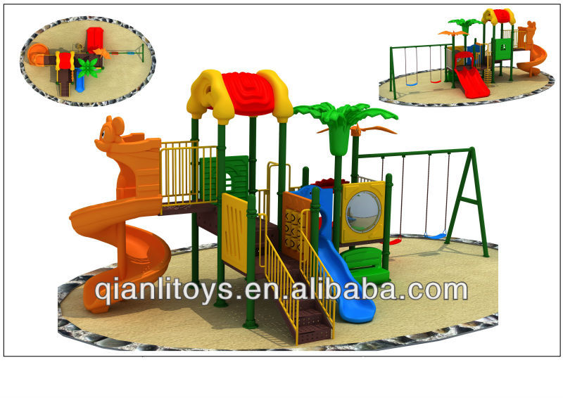 Outdoor Playground Plastic Sliding Board