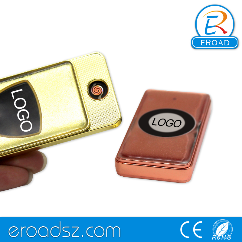 Eroad slim metal windproof particular custom lighter with your own logo
