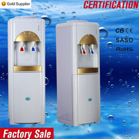 Colorful glass water cooler hot and cold water dispenser with refrigerator