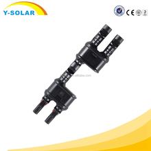 MC4T-A1 Solar PV MC4 Branch Connectors Solar Energy Adapter Solar Panel MC4 T Y Branch Cable Splitter Coupler Combiner MFF FMM