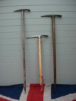 ANTIQUE WOODEN ICE AXES