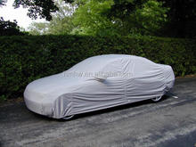Waterproof fabric PEVA and non-woven cotton Universal Car Cover with Silver color