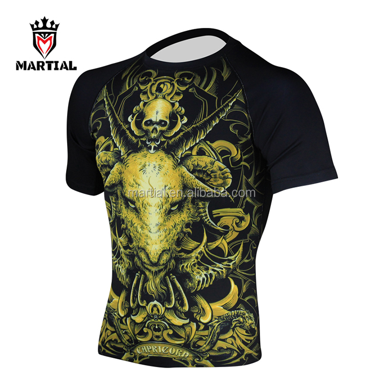Super Cool MMA Short Sleeve Rash Guard Designs