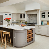 european style luxury round shape kitchen cabinet island