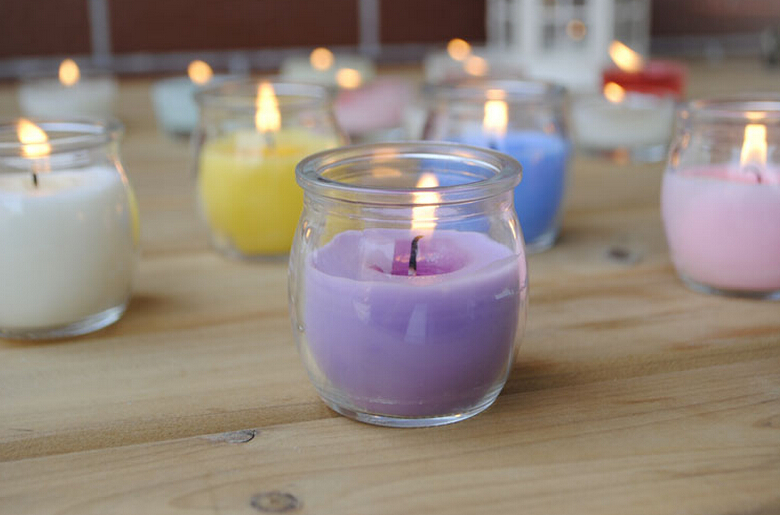 hot sale! cute glass candle holder