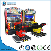 Indoor game motor driving simulator/2015 coin card operated electronic game motion attack motor 3d game machine simulator