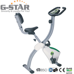 GS-8319-1 Hot Sales Indoor Magnetic Recumbent X Bike for Home Use
