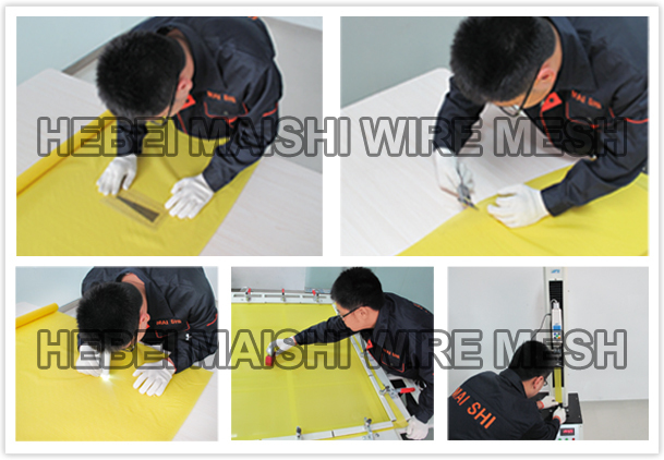 6T-165T silk polyester screen printing mesh
