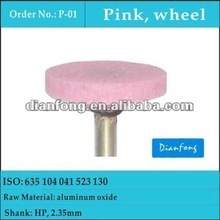 HP wheel pink medium grit aluminum oxide ceramic grinding stone for all types of metals