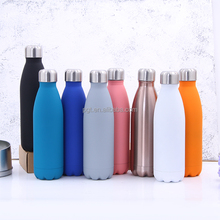 hot thermos cola shape sport bottle double wall stainless steel water bottle hydro vacuum flask