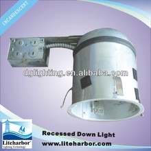 6 inch Fluorescent recessed down light, Airtight, Insulated ceiling Housing