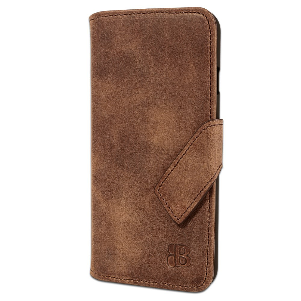 Mobile phone case of genuine leather with credit card slots for iPhone 6