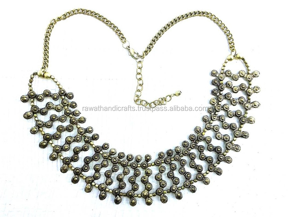 Antique gold plated alloy necklace Jewelry