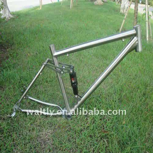 Titanium full suspension bike frame-WT26-457S