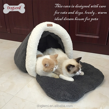 Top sale Warm Pet Cave Dog Winter Cat Rustle Sack House soft dog house