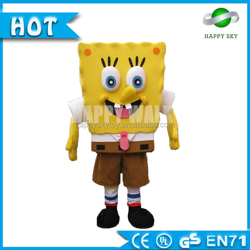 Hot-selling Plush SpongeBob SquarePants Movie toys & Events Costumes for Adult