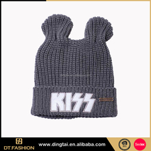 China supplier hot sale floppy winter knit hats with horn