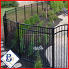 2014 hot sale Wrought iron railling prices/Spear top wrought iron picket fence/3 rail steel fence