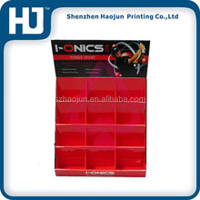 2014 Hot selling counter paper display box/plexiglass candy display box with custom printed