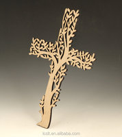china bulk unfinished laser cut orthodox wooden cross designs