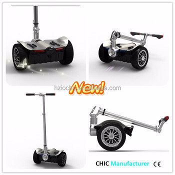 IO CHIC CE approved cheap safe 9 inch electric folding portable scooter 48v