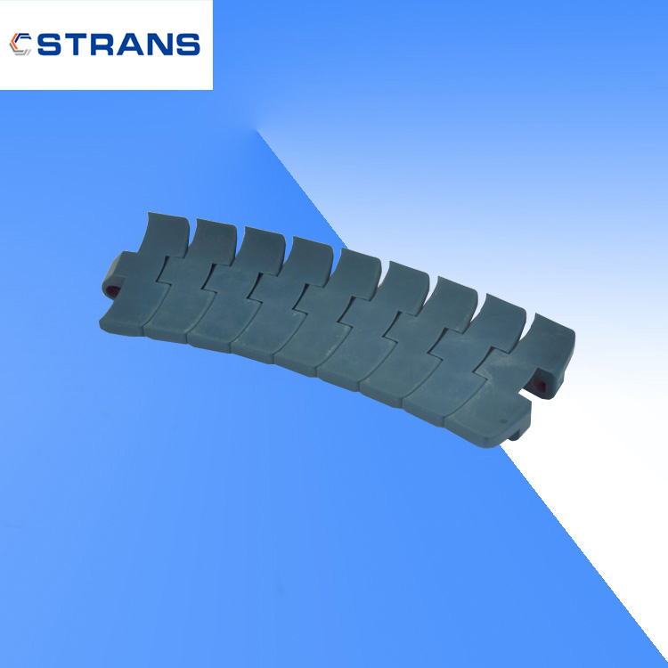 1060 Plastic Side Flexing Heavy Flat Top Conveyor Chain