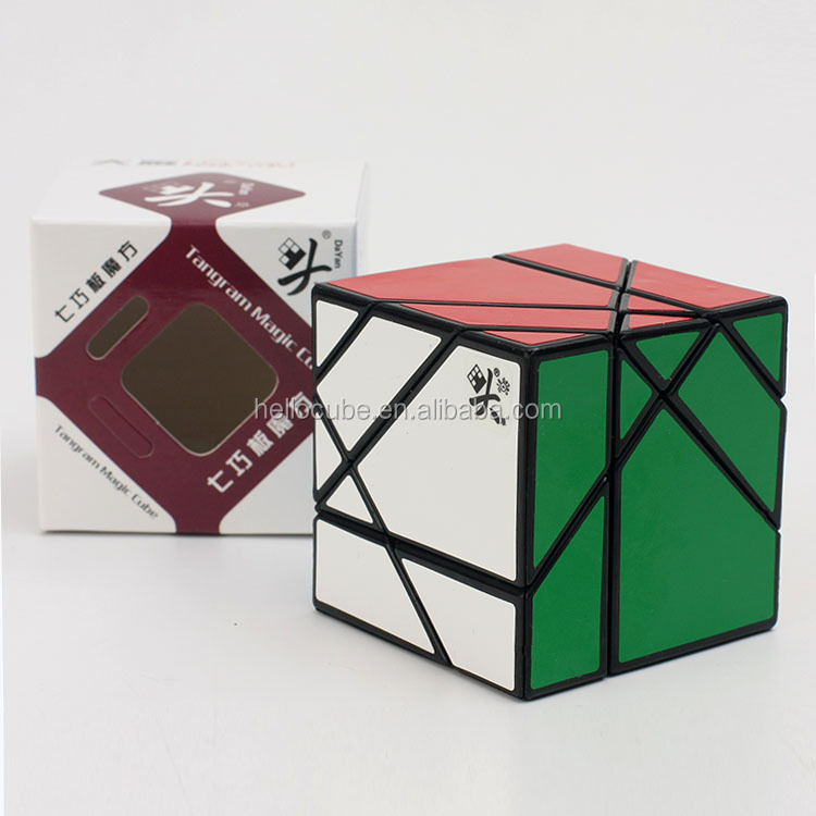 New Dayan Tangram Cube Black for speedcubing Magic Cube Puzzle kids toy Wholesale China