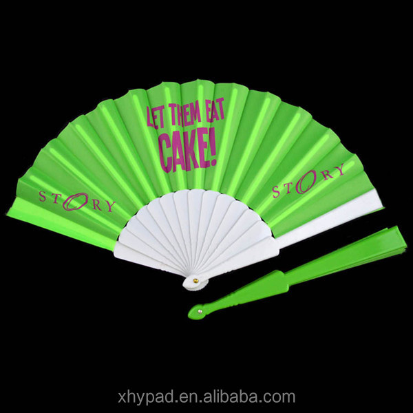 Plastic custom printed nylon folding fan