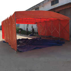 Customized large Clear Span Fixable, retractable Storage Tent with wheel, portable gazebo tents