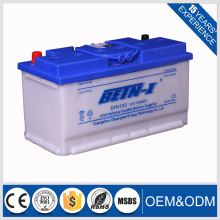 DIN100 12V100AH dry charged car battery 12vdc automotive