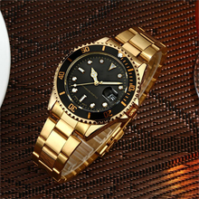 2018 Classic gold automatic wrist watch men luxury brand your own name logo from Chian manufacturer