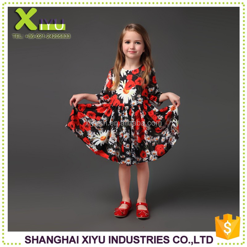 fashionable New style girls boutique dress