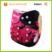 2016 New Printed Modern One Size Pocket Cloth Diaper,Reusable,Washable Cute Cat Halloween Baby Cloth Diaper Wholesale China
