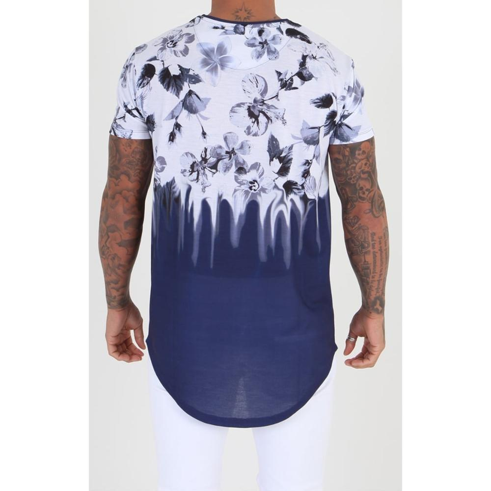 round hem longline sublimation t shirt