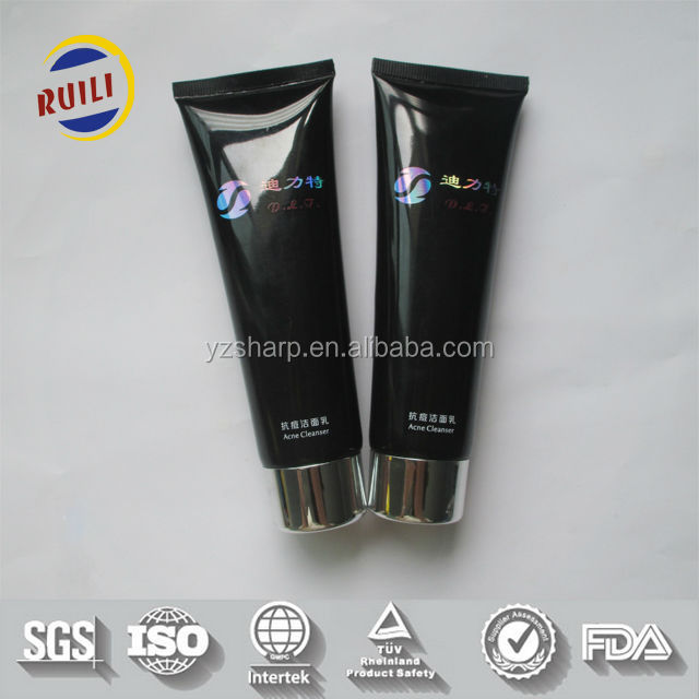 80ml screen printing and silver plating logo acne cleaner tubes
