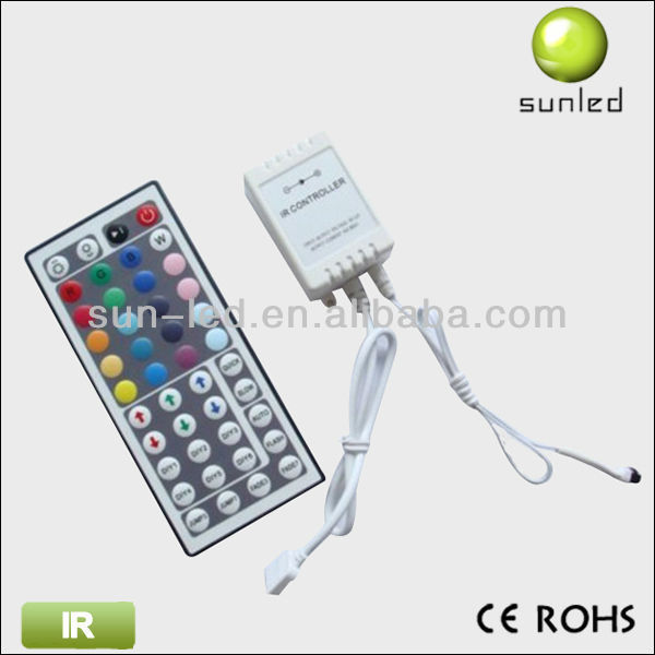 low price IR Controller with timer and remote control 44 key led controller for rgb strips