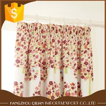 birds amongst woodland trees with minature floral printed dim-out lined curtains