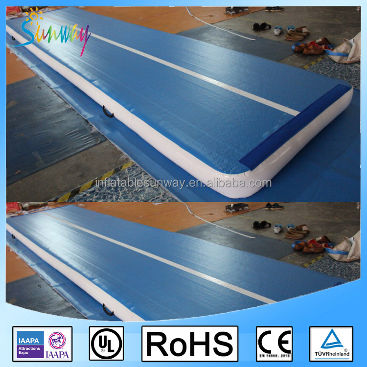 2016 Custom Guangzhou factory inflatable air tumble track, inflatable gym mat, inflatable air track for sale