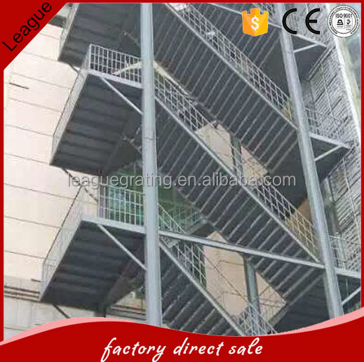 galvanized residential steel tread stairs